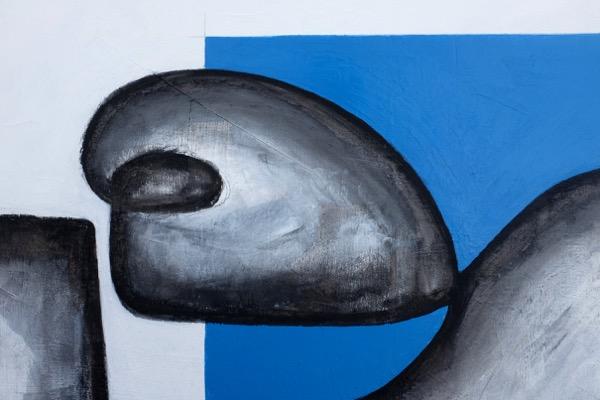 L'homme assis - 150 cm x 220 cm - details 1