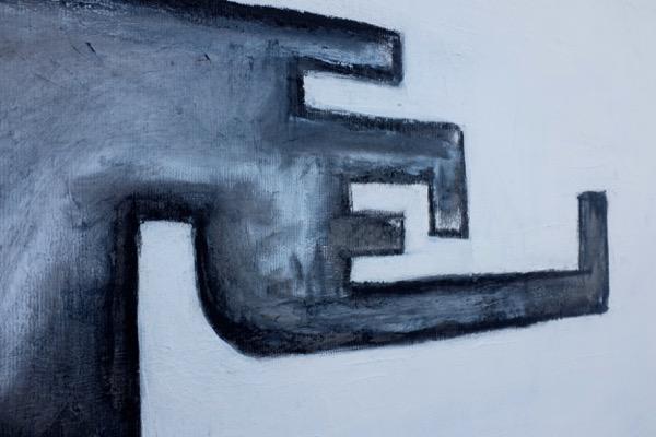 L'homme assis - 150 cm x 220 cm - details 2