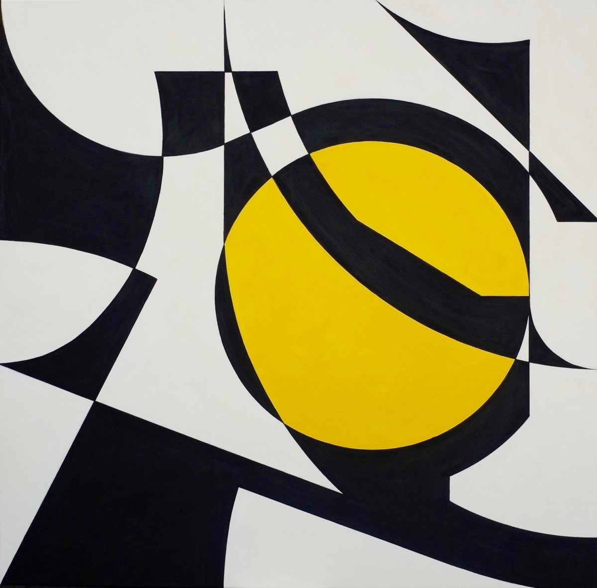 Two colours Theorem IV - 140 cm X 140 cm