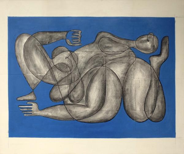 deux femmes - 54 cm x 65 cm
