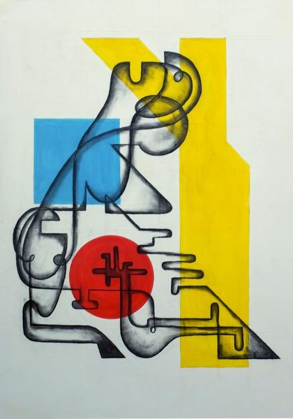 guERRE - 116 cm x 81 cm