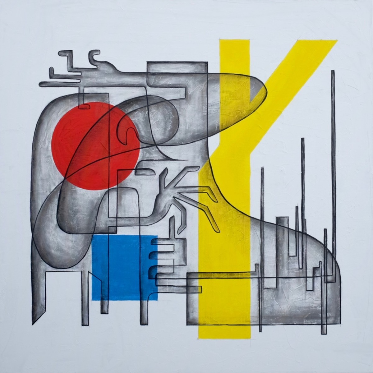 Glenn Gould - 100 cm x 100 cm