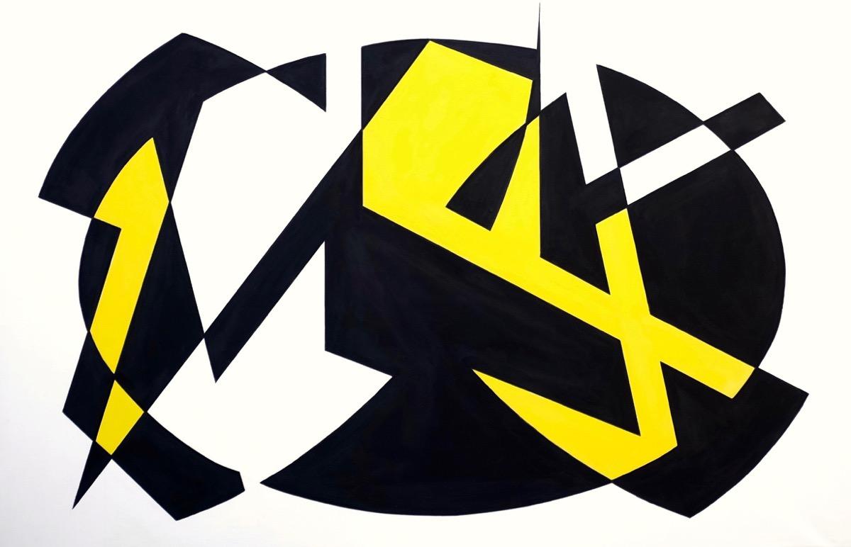 Two colours Theorem V – 71 cm X 120 cm