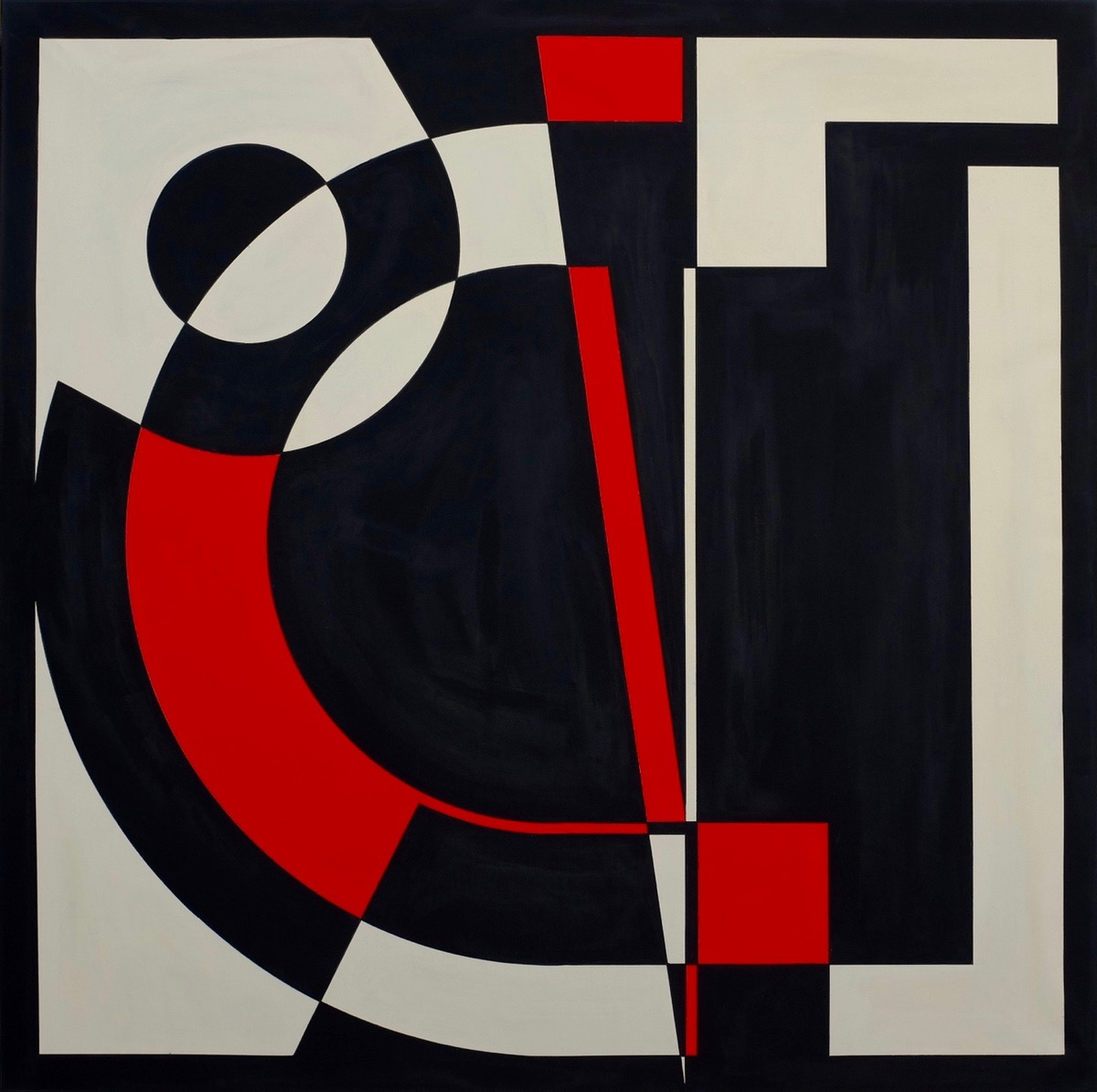 Two colours Theorem VI - 140 cm X 140 cm