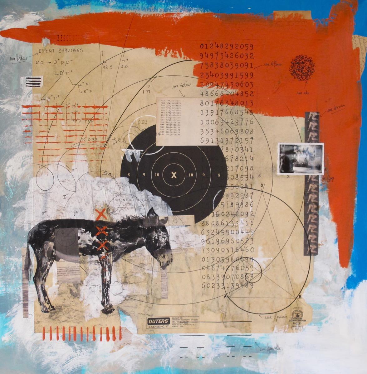 A donkey - 75 cm x 75 cm - 2013