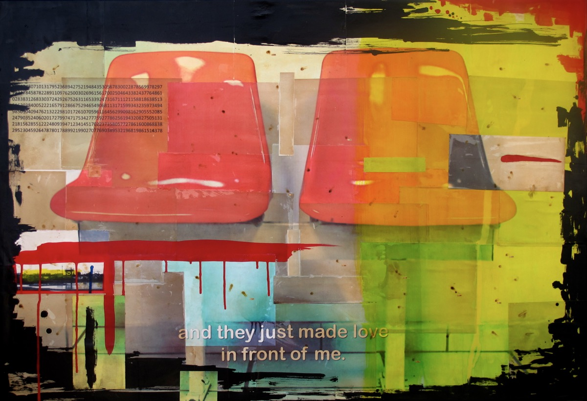 And they just made love in front of me II - 89 cm x 130 cm