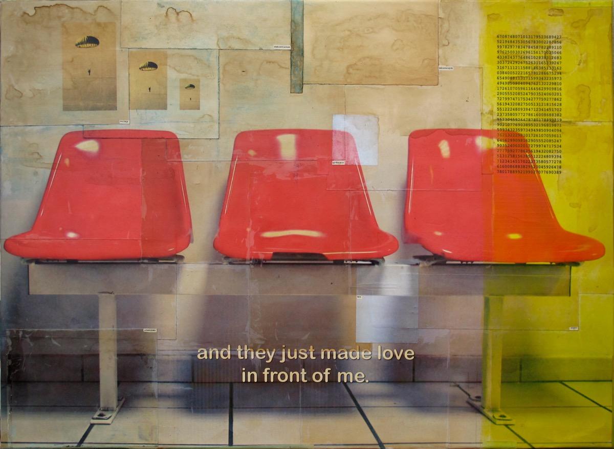 Trois chaises - 73 cm x 100 cm