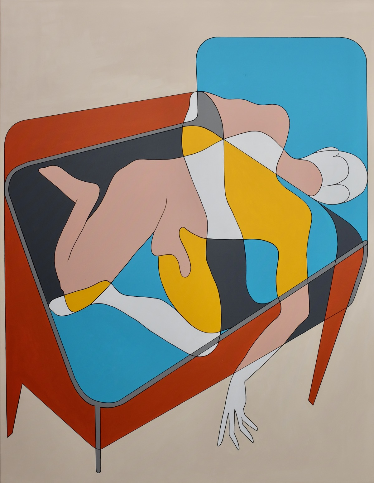 Bed (the unbearable vulnerability of being) - 155 cm x 120 cm